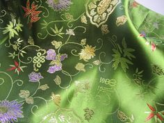 Chinese brocade fabric 1 square yard polyester by TintinBeads, $8.50
