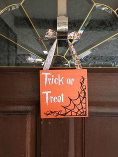 A personal favorite from my Etsy shop https://www.etsy.com/listing/464822554/trick-or-treatout-of-candy-sign