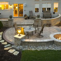 Miraculous backyard patio ideas with fire pit Find inspirations to plan and beautify your backyard design. These backyard patio ideas will help you to make your backyard pretty and comfort. Check now! Outdoor Rooms, Outdoor Living, Outdoor Patios, Outdoor Stone, Outdoor Kitchens, Outside Living, Back Patio, Screened Patio, Pergola Patio