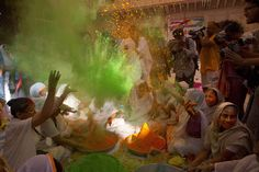 Indian widows celebrate Holi festival – in pictures
