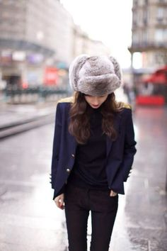 All I want this winter is a good, luxe (faux) fur ushanka hat!