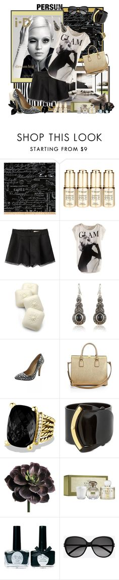 """""""Glamour Girl <3"""" by cupcakecouturegirls ❤ liked on Polyvore featuring Dr. Sebagh, Gianna Rose Atelier, Dolce&Gabbana, David Yurman, Pluma, Tocca, Ciaté and Yves Saint Laurent"""
