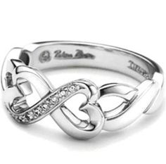 Infinity Love 925 Sterling Silver Wedding Ring Band Engagement Matching Eternal