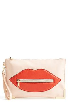 Natasha Couture Oversized Lip Clutch available at #Nordstrom