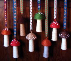 How to make a Toadstool pin cushion.