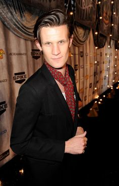 moosllins:  thegestianpoet:  the-belfry:  Matt Smith. Scarf. No collar. That is all.  oh here matt smith I'm baking cookies and need some crisco to line the pan with CAN I USE YOUR HAIR  and i cried and i was in the bath  Hipster as Hell.