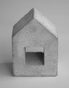 House concrete sculpture