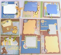 Mini Baby Boy Album by beadsonthebrain - Cards and Paper Crafts at Splitcoaststampers