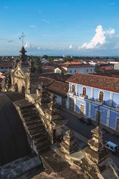View from the bell tower of Iglesia de la Merced in Granada, Nicaragua | heneedsfood.com