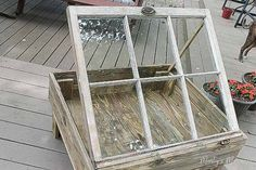 salvaged window table, diy, how to, painted furniture, repurposing upcycling… Antique Windows, Vintage Windows, Old Windows, Window Coffee Table, Window Table, Coffee Tables, Shadow Box, Home Projects, Diy Furniture