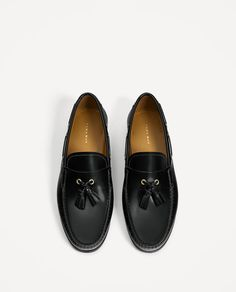 Image 5 of BLACK ANTIK LEATHER LOAFERS from Zara