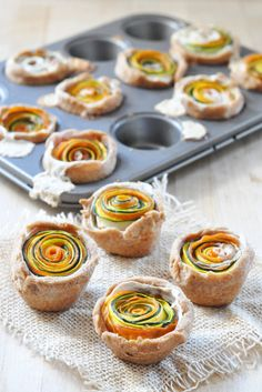 Vegan Mini Spiral Cream Cheese Tarts - The Colorful Kitchen