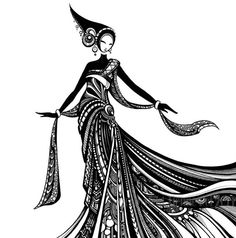 Kiera in Black and White Art PRINT by Tienne Rei by TienneRei, $15.00