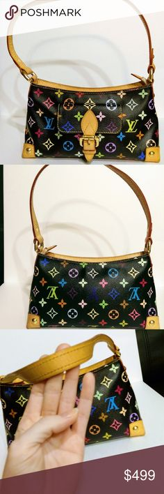 Louis Vuitton Multicolor Monogram Eliza Shoulder Authentic Louis Vuitton Multicolor Black Eliza Shoulder Bag  In excellent used condition. 10.6 x 4 x 5.9 Louis Vuitton Bags Shoulder Bags