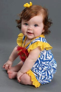Pretty baby! #redheads #childrens #photography #babies #red #yellow #red #heads #blue