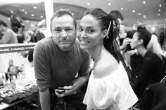 Joan Small et Tom Pecheux  au défilé Balmain printemps-été 2015 http://www.vogue.fr/mode/inspirations/diaporama/fwpe2015-les-coulisses-de-la-fashion-week-de-paris-printemps-ete-2015-jour-3/20506/image/1088910#!joan-small-et-tom-pecheux-au-defile-balmain-printemps-ete-2015-fashion-week-paris