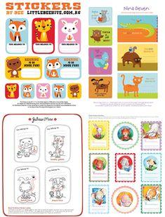 printable book labels for kids...via Design Editor