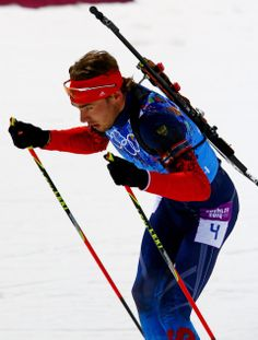 DAY 16:  Anton Shipulin of Russia competes during the Biathlon Men's 4x7.5km Relay http://sports.yahoo.com/olympics
