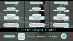 Elegant Lower Thirds (Corporate) #Envato #Videohive #aftereffects