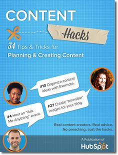 34 Content Hacks to Save Time and Sanity.  http://scalablesocialmedia.com/2013/12/content-marketing-hacks/ #inbound