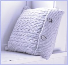 I really like use for old sweaters  Recycled Sweater Pillow. I sense a trip to GoodWill in my future.