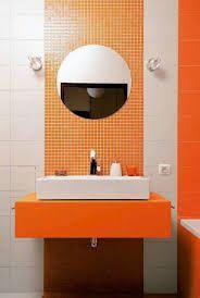 mała łazienka-pomarańczowa - Szukaj w Google