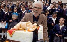 Fernando Botero y su torta de cumpleaños...