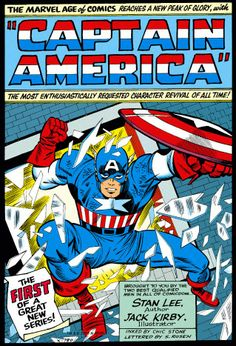 "Here is the opening page for the first ""Captain America"" comic book."