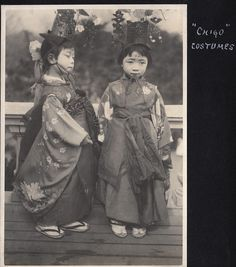 Chigo costumes, ca.1914-18 by Elstner Hilton || The children who perform certain duties in a temple, nowadays mostly dancing and taking part in a parade. ~Via kouji