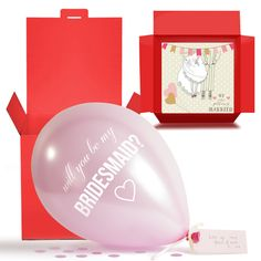 Will You Be My Bridesmaid Balloon in a Box Gift Free 1st Class Deliver