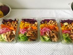 Keeping my staples list relatively constant and adding variety through low-maintenance dressings and toppings has really helped me embrace meal prep without wasting a ton of time, money, and food.