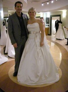 Judd Waddell And A Bride In His Satin Ballgown At Bridals By Lori Trunk Show