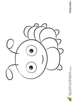 Image à colorier d'une petite chenille Insect Coloring Pages, Colouring Pages, Adult Coloring Pages, Coloring Sheets, Coloring Books, Small Drawings, Cartoon Drawings, Easy Drawings, Animal Drawings