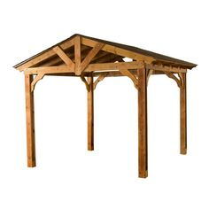 Heartland Pergola 137-in W x 116-in L x 114-in H Microshade Wood Freestanding Pergola