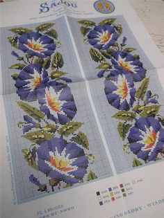 Sajou Berlin Woolwork Chart Cross Stitch Petit Point Morning Glory | eBay