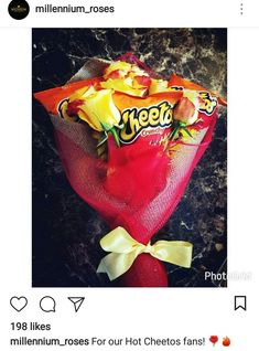 Hot Cheetos Bouquet Gift Ideas Cheetos Weird Gifts