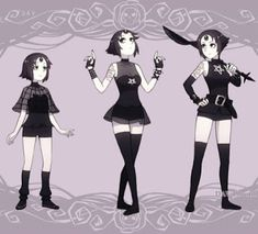 Gothic pearl...I guess you could call her black pearl - interetsing...