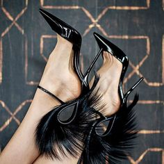 Amazing feather heels Source by shoes Pumps Heels, Stiletto Heels, Stilettos, Flats, Ysl Heels, Mode Shoes, Black High Heels, Beautiful Shoes, Shoe Brands
