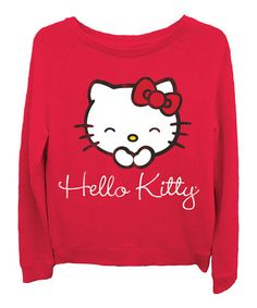 Another great find on #zulily! Red Hello Kitty Reversible Top - Juniors #zulilyfinds