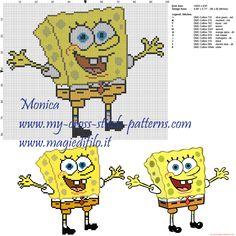 Spongebob cross stitch pattern