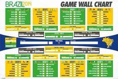 Brazylia 2014 Mistrzostwa Świata Tabela - plakat - 91,5x61 cm  Gdzie kupić? www.eplakaty.pl