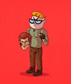 Personagens da cultura pop são 'desmascarados' em ilustrações