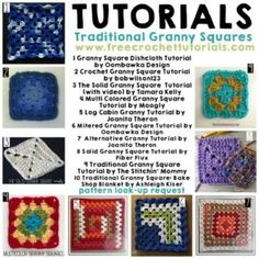 10 Tutorials for Traditional Granny Squares Pattern Search Completed by Free Crochet Tutorials