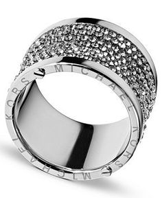 Michael Kors Ring, Silver Tone Pave.
