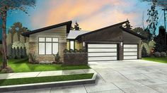 Plan 62547DJ: 3 Bed Modern Ranch House Plan