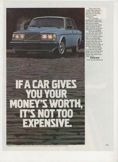 1981 Advertisement Volvo GLE 8x11 81 Sedan Luxury Performance Expensive Car Garage Shop Dealership Wall Art Decor