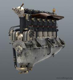 Mercedes D.III.WW1 inline six aero engine, 200 HP.