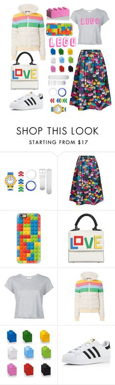 """Lego"" by uucuvg ❤ liked on Polyvore featuring Lego, Mira Mikati, Casetify, Les Petits Joueurs, RE/DONE, Perfect Moment and adidas"
