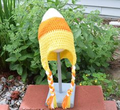 Candy Corn Hat, Halloween Costume. - pinned by pin4etsy.com