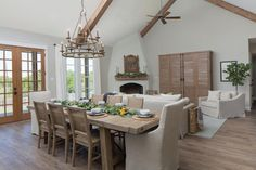 Chip and Jo take on a different kind of 'Fixer Upper' when they undertake a ground-up new build, creating a Euro-inspired cottage style home with grand interior spaces and beautiful views. Decor, House, Cottage Style, Dining Room Design, Fixer Upper Dining Room, Building A House, Cottage Style Homes, Hgtv Fixer Upper, Best Dining